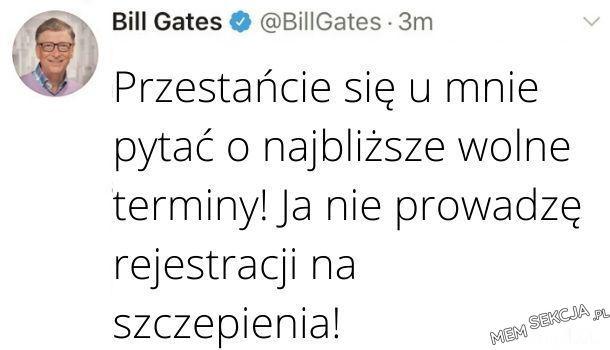 Bill Gates i rejestracja na szczepienia