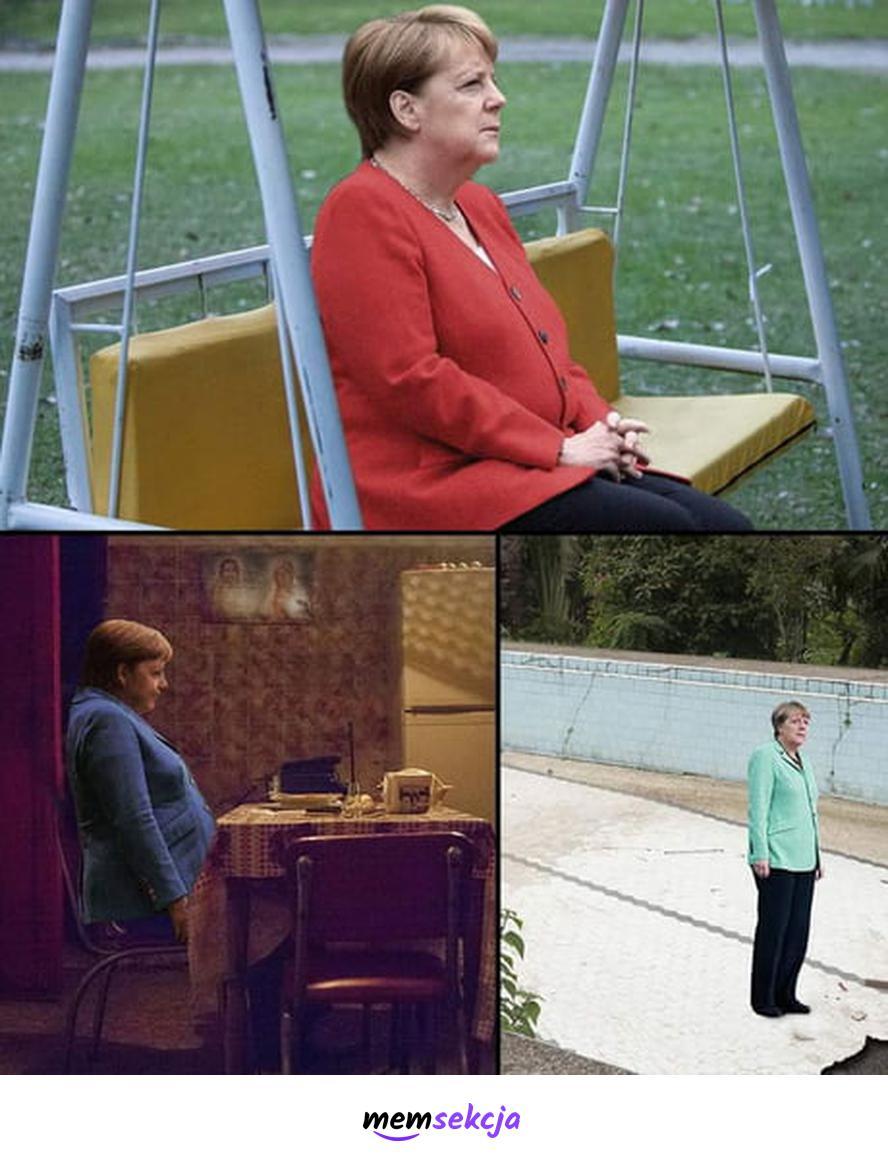 Samotna Angela Merkel. Memy polityczne. Angela  Merkel