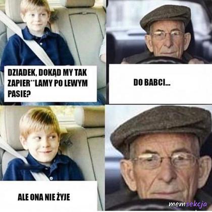 Dziadek jedzie do babci