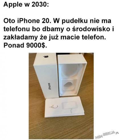 przewidywania co do wyglądu Iphone 20