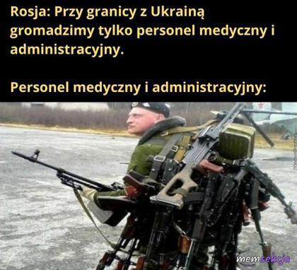 Rosyjski personel administracyjny przy granicy