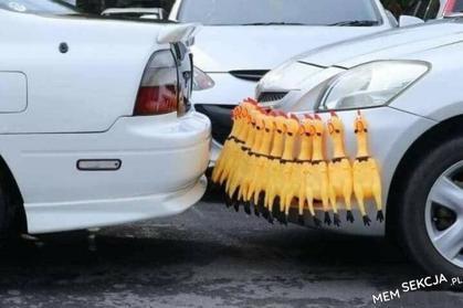Czujniki parkowania z kurczaków