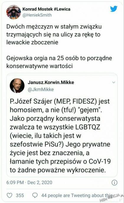 Janusz Korwin-Mikke wyjaśnia homosia