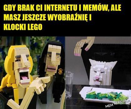 Mem z klocków lego