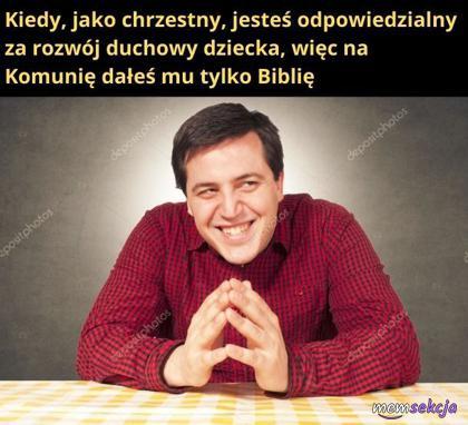 Biblia w prezencie na komunie