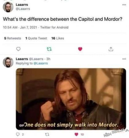 One does not simply walk into Mordor. English