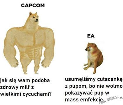 Różnica między CAPCOM i EA
