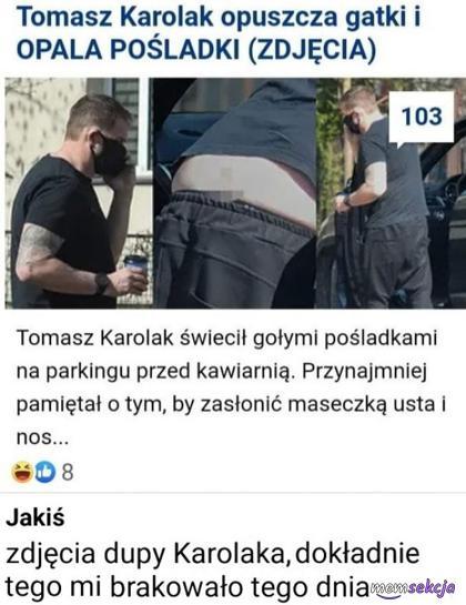 Tomasz Karolak opuszcza gatki i opala pośladki. Ważna wiadomość!