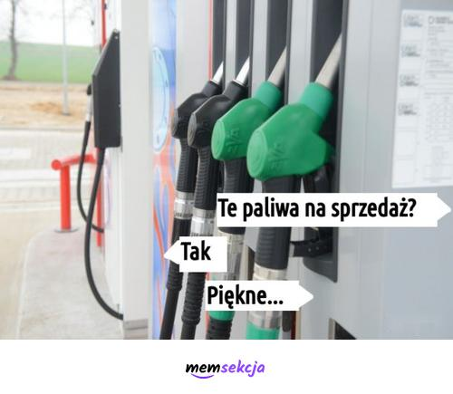 Te paliwa na sprzedaż? Tak. Piękne. Śmieszne. Inflacja. Stacja  Paliw. Benzyna