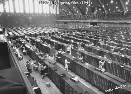 Baza odcisków palców FBI w 1944r.