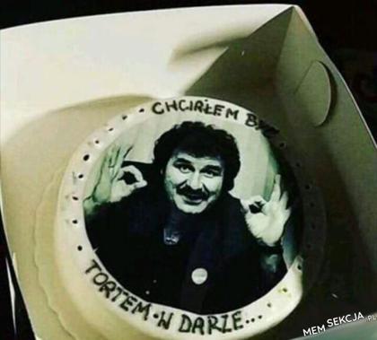 Wspaniały człowiek, wspaniały tort