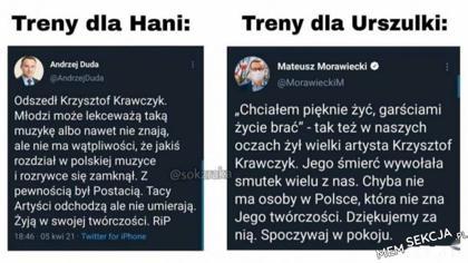 Morawiecki vs Duda po śmierci Krawczyka