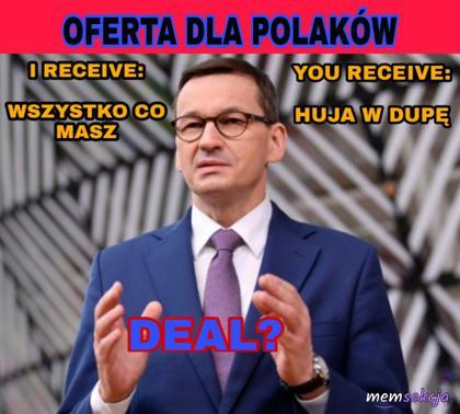 Oferta specjalnie dla Polaków od Morawieckiego
