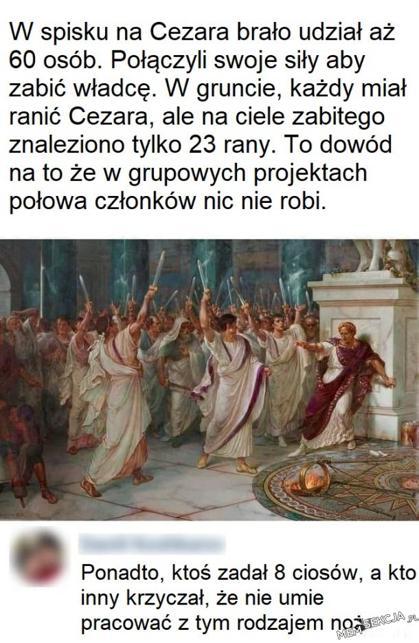 Projekt grupowy: zabić cezara. Historyczne. Juliusz  Cezar
