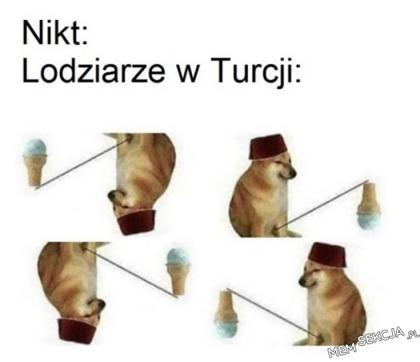 Lodziarze w Turcji