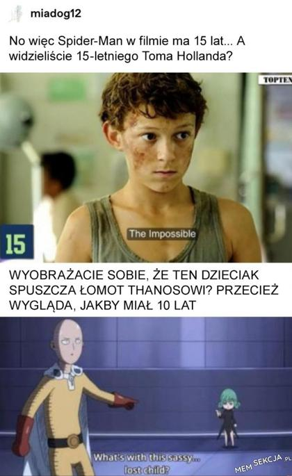 Spider-Man w filmie ma 15 lat...