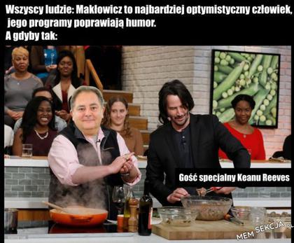 Robert Makłowicz i Keanu Reeves wspólnie gotują
