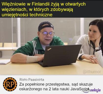 Więźniowie w Finlandii ucząsię programować