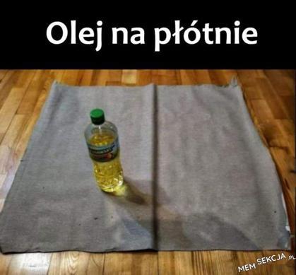 Olej na płótnie