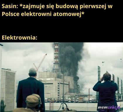 Pierwsza w Polsce elektrownia atomowa autorstwa Sasina