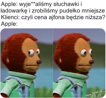 No gdzie niższa cena, przecież jabłuszko jest na obudowie