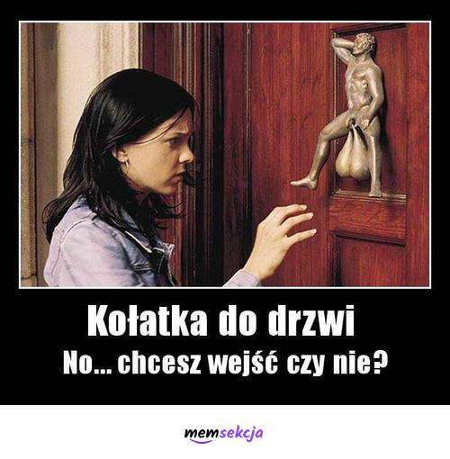 Kołatka do drzwi z jajami. Memy. Dla  Dorosłych. Zboczone. Świńskie