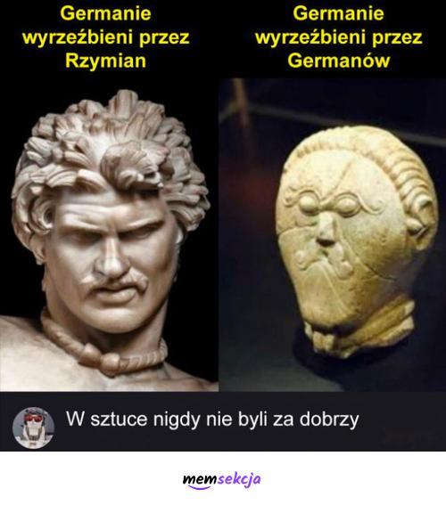 Germanie wyrzeźbieni przez Rzymian. Historyczne. Germanie. Rzymianie. Rzeźba