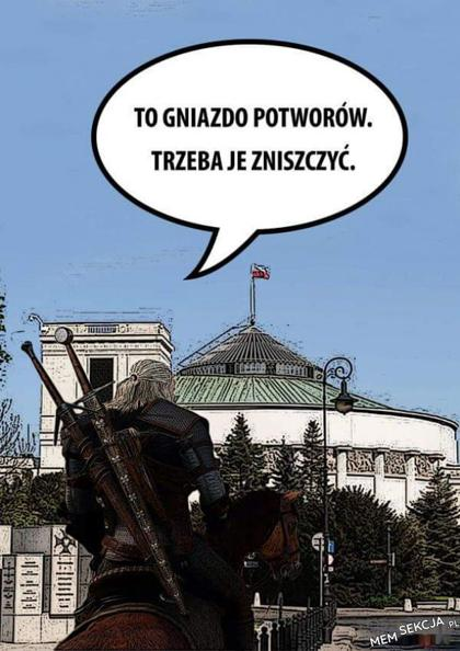 To gniazdo potworów. Trzeba je zniszczyć. Wiedźmin przed Sejmem.
