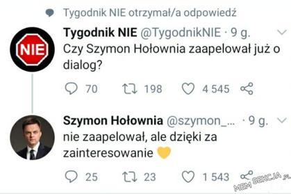 Czy Szymon Hołownia zaapelował jużo dialog?
