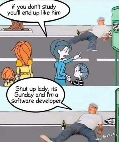 Programista w niedzielę