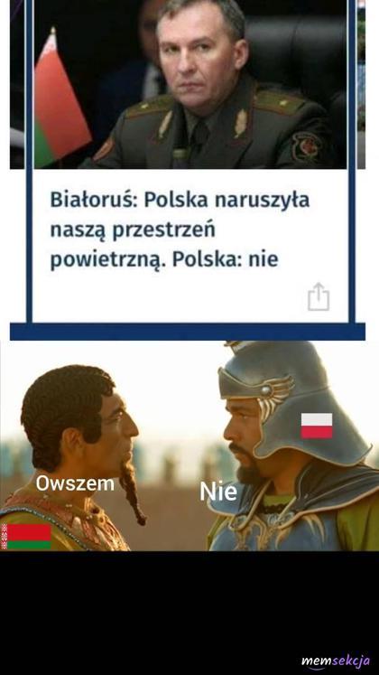 Polska naruszyła tą przestrzeń czy nie?
