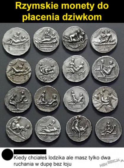 Rzymskie monety do płacenia dziwkom