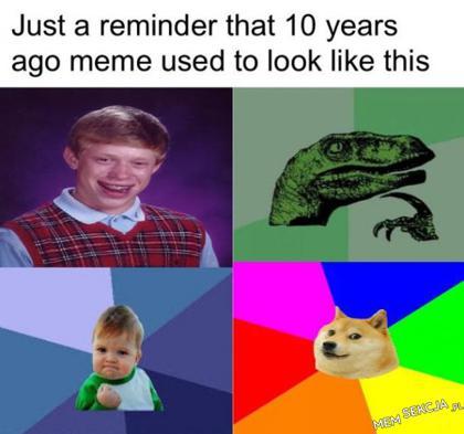 Memy 10 lat temu