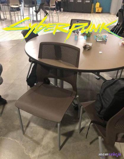 Cyberpunk 2077 krzesło