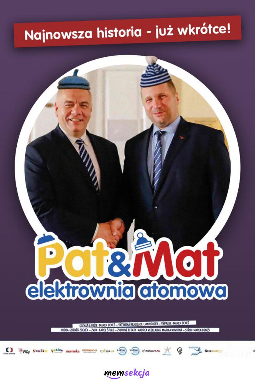 Pat i Mat elektrownia atomowa. Memy polityczne. Jacek  Sasin. Przemysław  Czarnek