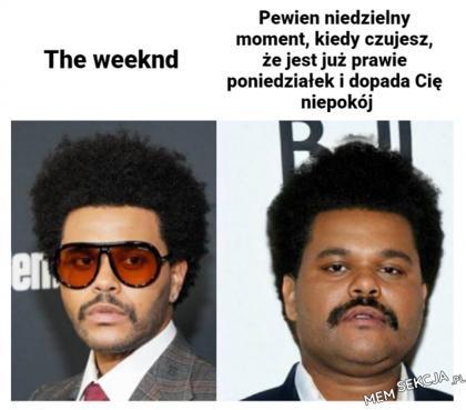 The weeknd vs niedzielny moment
