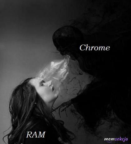 Chrome wysysający RAM z mojego komputera