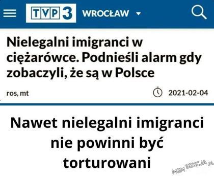Nielegalni imigranci podnieśli alarm, gdy zobaczyli, że sąw Polsce