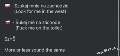 Uważajcie na słowa jak będziecie w Czechach. Śmieszne