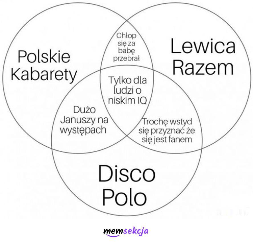 Polskie kabarety vs Lewica vs Disco Polo. Memy. Disco  Polo. Lewica. Kabaret