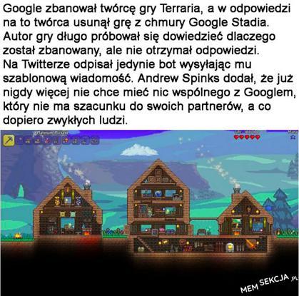 Google bez szacunku