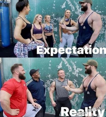 Każdy trenujący na siłowni facet