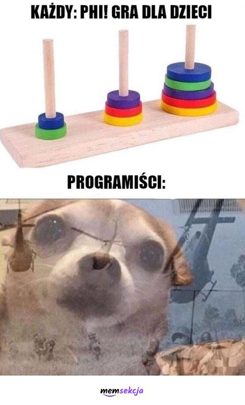 Gra dla dzieci, ale czy na pewno?. Memy. Programiści