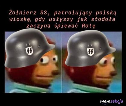Kiedy żołnierz SS usłyszał jak stodoła śpiewa Rotę