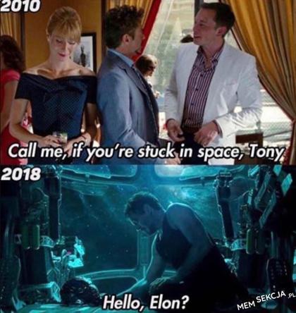 zadzwoń jak utkniesz w kosmosie