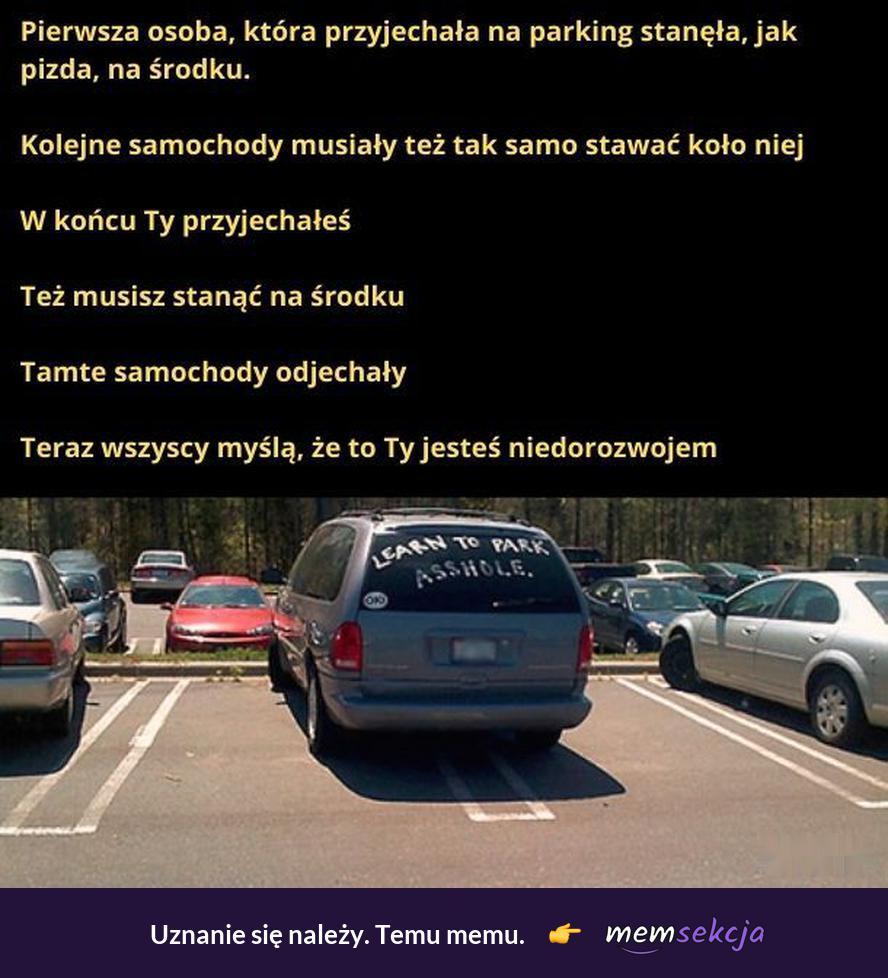 Taka sytuacja się zdarza. Memy. Poprawne  Parkowanie