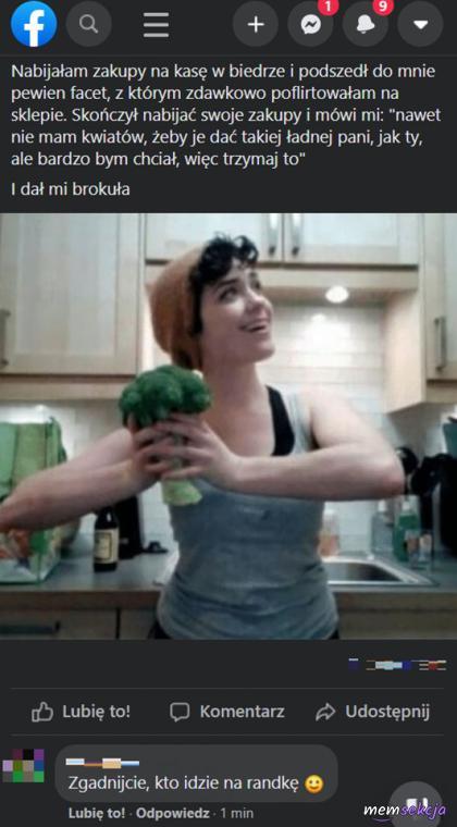 Dostała brokuła zamiast kwiatów ale zadziałało