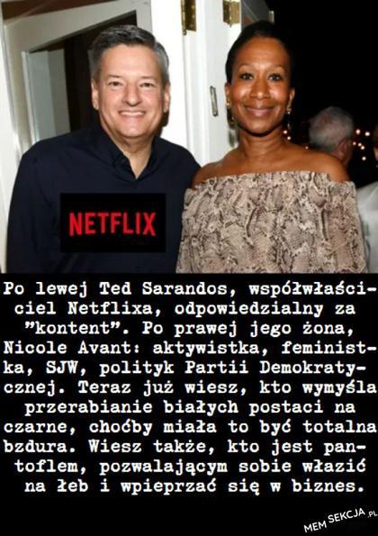 Współwłaściciel Netflixa jest pantoflem. Ciekawostki. Netflix. Ted  Sarandos. Żona. Nicole  Avant