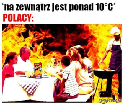 Polacy, kiedy na zewnątrz jest ponad 10°C