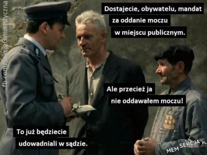 Panie obywatelu, mandacik. Memy
